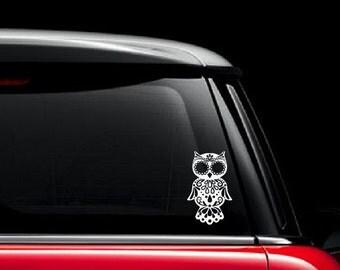 Sugar Skull Owl Etsy - Owl custom vinyl decals for car