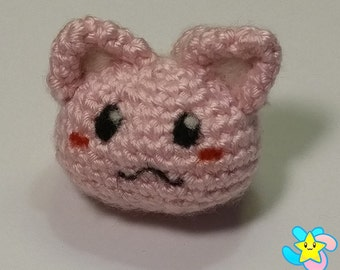 Crochet Amigurumi Kawaii Pink Kitty-Ball (Purrball!)