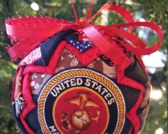 US Marine Core Quilted Ornament