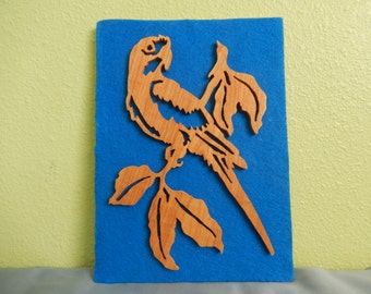Parrot Silhouette Wall Hanging