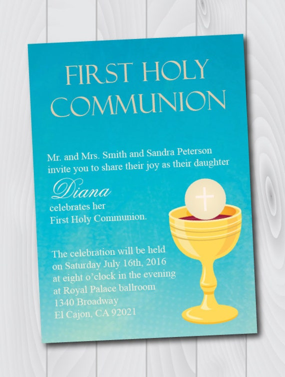 This is a picture of Critical First Communion Cards Printable