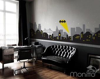 gallery for gt gotham cityscape wall decal 17 best images about city skyline on pinterest chicago