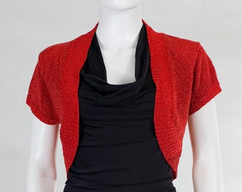 Sparkly Red Shrug Sweater