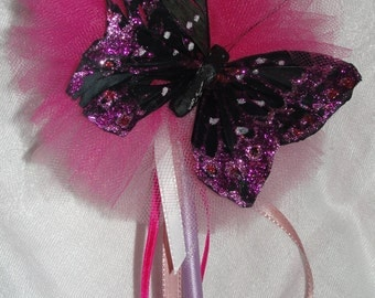 Tulle Poof Butterfly Wand