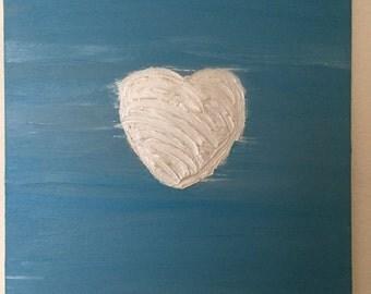 """Reiki Canvas Art: """"The Loving Heart"""""""