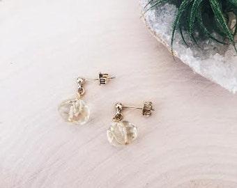 Citrin earrings