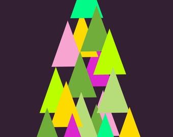 Geometric Xmas Tree Card