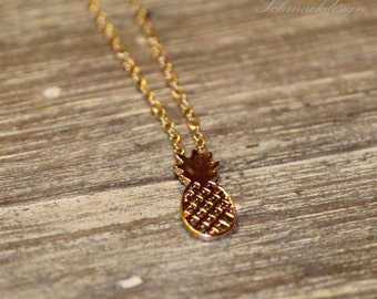 Gold chains pineapple - gold