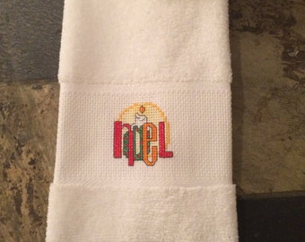 Cross stitch guest towel