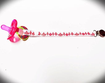 Christmas Ornament Pacifier Clip