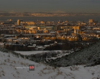 Easter Road Stadium, Leith from Arthur's Seat, Edinburgh