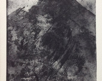 original exclusive limited edition etching of mountain