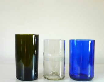 Wine bottle vase / Wine bottle tumblers / Cut bottle bottoms / Bottle decor accessories / Bottle candleholder / Bottle cup / Bottle glass