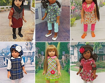 """Sewing Pattern for 18"""" Doll Wardrobe , Simplicity Pattern 1089, Cupcake Cutie Pie Designs"""