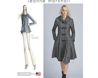 Sewing Pattern for Misses' Lined Coat or Jacket, Simplicity Pattern 8262, Plus Sizes, Petite Sizes, Leanne Marshall Designs