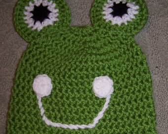 Frog Hat - Hand made