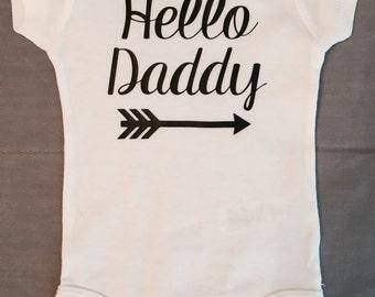 HELLO DADDY onesie / pregnancy announcement