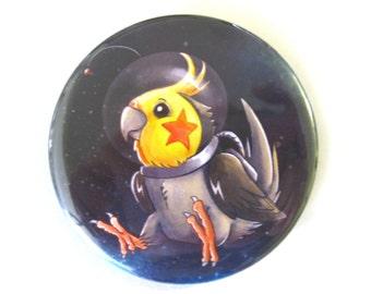 Cosmic Cockatiel - Kosmotiel - 2.3 Inch button