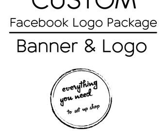 Custom Facebook Banner and Logo Package
