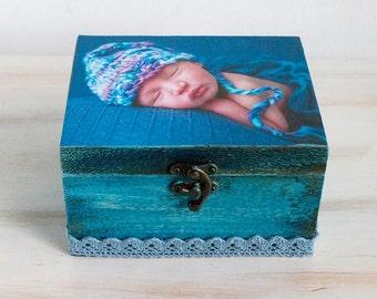 Personalized photo baby box Custom photo keepsake box Custom photo memory box Custom baby keepsake box Personalized photo memory box