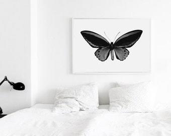 Buterfly Printable Art, Buterfly poster, buterfly Print, Printable Decor, Dorm Room Decor, Nursery Poster, Nursery Decor, Minimalist Print