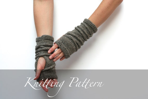 Knitting Pattern Wrap Gauntlets by AmyLaRouxPatternShop on ...