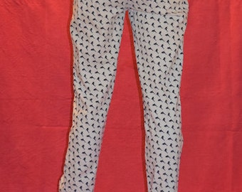 Dolphin Printed White Vintage 90s Jeans