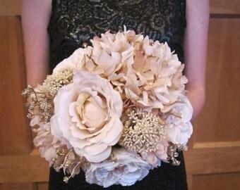 Antique Rose Bridesmaid Bouquet Wedding Bouquet