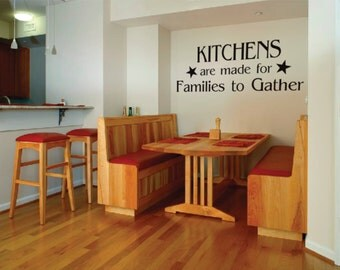 Wall Decor vinyl sticker /wall sticker / wall decal / vinyl decal inspirational quote - Kitchens are made for families to gather