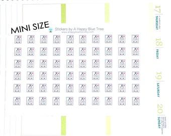 MINI Happy Eye Exam Chart Appointment Reminder Stickers Personal Planner Filofax Midori Kawaii A5 Erin Condren Cute Funny Optometrist Tiny