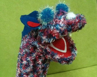 American Dragon Sock Puppet by Pam's Puppets