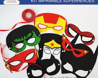 Printable Kit superheroes