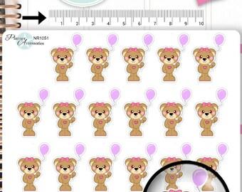 Kawaii Birthday Stickers Cute Bear Stickers Birthday Stickers Planner Stickers Functional Stickers Decorative Stickers NR1051
