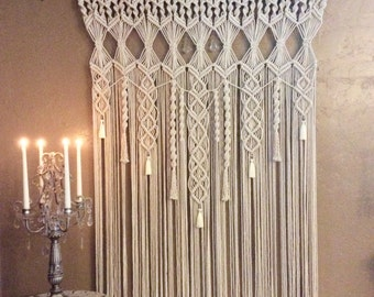 Extra Large Macrame Wall Hanging Tapestry Wedding Backdrop Macrame Curtain Woven Wall Hanging Boho Decor Hippie Decor Bohemian Decor