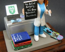 Female Surgeon Figurine, Customized Lady Doctor Graduation Gift, Personalized Surgeon Gift, Doctor Figurine, Female Surgeon Graduation Gift