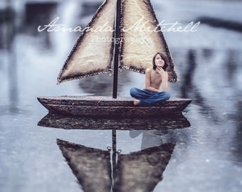 Compositing Tiny Boat In Street