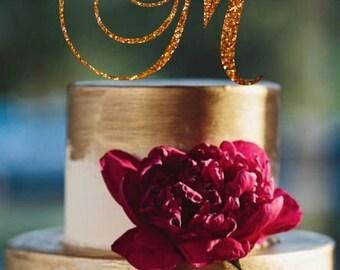 Monogram Cake Topper Initial Wedding Cake Topper Custom Monogram Topper Personalized Letter  Monogram Wedding Cake Topper Personalized