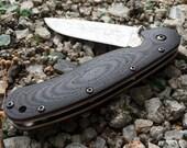 Ontario RAT 1 knife custom 3D handmade scales.
