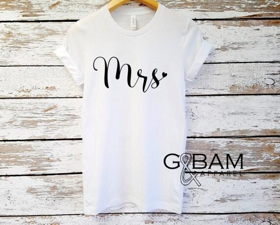 Mrs. Shirt / Boyfriend fit shirt /  Bride Shirt / Wife shirt