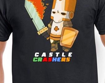 Castle Crashers Fire Orange Knight T-Shirt