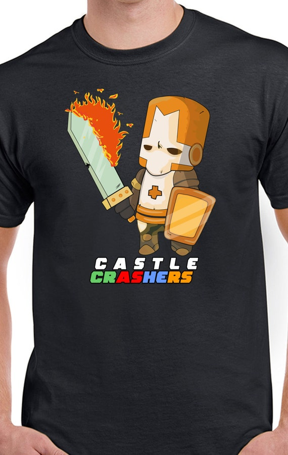 Castle Crashers Fire Orange Knight T-Shirt by WasabiTees ...