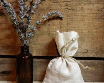 Natural Linen Lavender Sachet