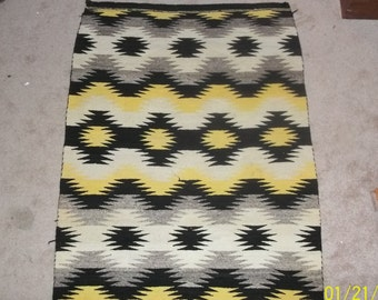 "Gorgeous Hand woven Navajo wool Blanket 39"" x 53"""