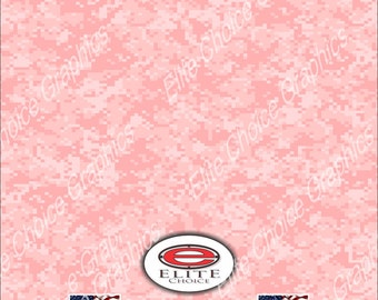 "Digital Pink 15""x52"" or 24""x52"" Truck/Pattern Print Tree Real Camouflage Sticker Roll or Sheet"