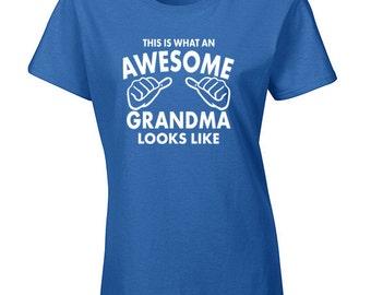 Grandma Tshirt | Grandma Gift | Awesome Grandma | Grandma Tee Shirt | New Grandma Shirts | Funny Grandma Shirt | Nana Shirt | S137