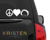 Bernie Sanders * Peace Love Bernie * Feel the Bern * Birdie Sanders * Car Window Decal * Sticker * Professional Grade * Outdoor Vinyl