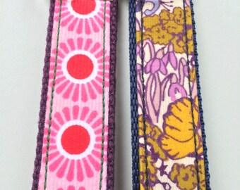 Liberty Handmade Baby Cord Floral Fabric Key Fob, Key Chain, Key Ring, Key Holder