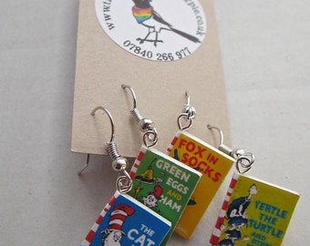 "Dr.Seuss  Books Earrings from ""The Earring Library"""