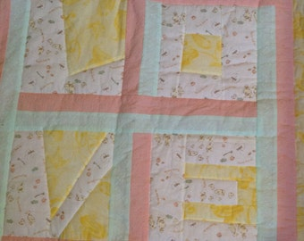 Mama loves me handmade baby quilt