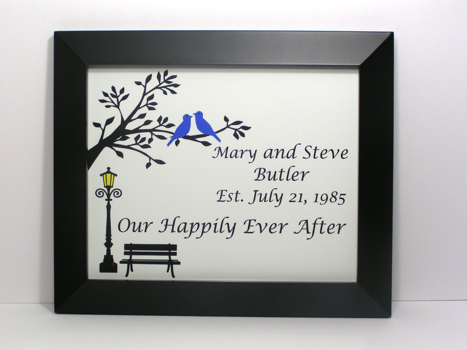 Personalized Wedding Gifts For Couple by LetterPicturePrints